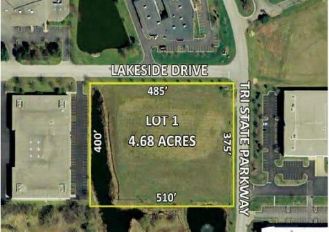 4.68 Acres Lot 1 CenterPoint Ct., Gurnee, IL